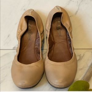 LUCKY BRAND-Nude Leather Ballet Flats-Size 7.5